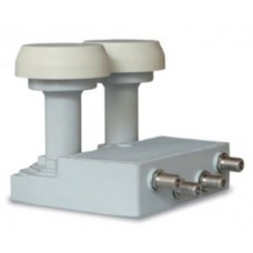 UX-MBQD6 FRACARRO LNB DUAL FEED 4 OUT
