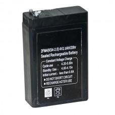 BATTERIA RICARICABILE PIOMBO 4V 2.0Ah DIM:75x50x22mm