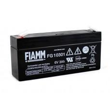 FG10301 FIAMM BATTERIA RICARICABILE PIOMBO 6V 3,0Ah