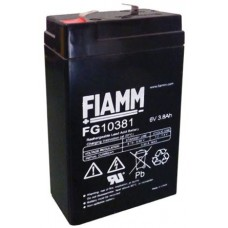 FG10381 FIAMM BATTERIA RICARICABILE PIOMBO 6V 3,8Ah