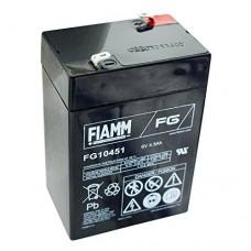 FG10451 FIAMM BATTERIA RICARICABILE PIOMBO 6V 4,5Ah