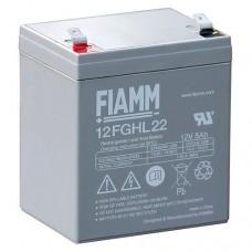 12FGHL22 FIAMM BATTERIA RICARICABILE PIOMBO 12V 5,0Ah