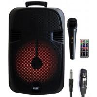 CASSA AMPLIFICATA 100W BATTERIA,USB,SD,BLUETOOTH,EFFETTI LUCA MICROFONO E TELECOMANDO