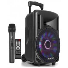 CASSA AMPLIFICATA 450W TROLLEY CON LETTORE PER FILE MP3 E MICROFONO