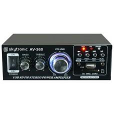 AV360 SKYTRONIC AMPLIFICATORE STEREO 2x40W KARAOKE FM TELECOMANDO