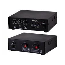 AMPLIFICATORE PROFESSIONALE 4/16 OHM 30W CON LETTORE MP3 DOPPIA TENSIONE 12VCC / 220VCA