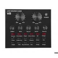 SOUND CARD V8 SCHEDA AUDIO LIVE REGOLABILE CON EFFETTI