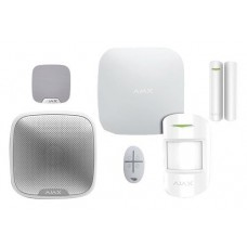 AJKIT3W AJAX KIT ANTIFURTO WIRELESS: CENTRALE, SENSORE, CONTATTO, TELECOMANDO, SIRENA INT.E EXT.