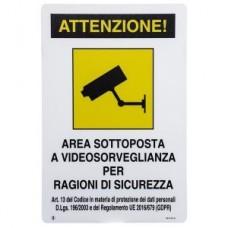 CARTELLO AREA VIDEOSORVEGLIATA 18x12