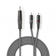 CAVETTO 2xSPINE RCA - 1xSPINA JACK 3,5 STEREO MT.5,0 PROFESSIONALE