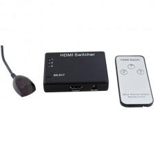 SWITCHER HDMI 3 IN 1 OUT 1080P, 3D, CON TELECOMANDO