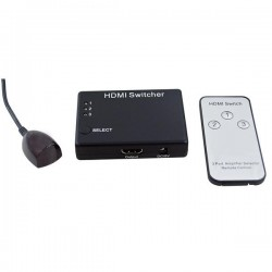 SWITCHER HDMI 3 IN 1 OUT 1080P, 3D, CON TELECOMANDO