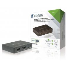 SWITCHER HDMI 2 IN 1 OUT 1080P, 3D, 4K, COMMUTAZIONE MANUALE