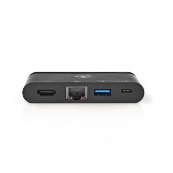 HUB USB3.1 TYPE C TO HDMI, USB 3.0, RJ45 EHERNET