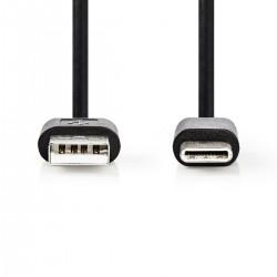 CAVO USB 2.0 MASCHIO TIPO A - USB 2.0 TTPO C MASCHIO MT.1,00
