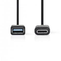 CAVO USB 3.2 MASCHIO TIPO C - USB TIPO A FEMMINA MT.0,15