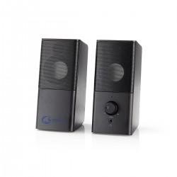 COPPIA ALTOPARLANTI AMPLIFICATA 18W ALIMENTAZIONE DA PORTA USB USCITA JACK 3,5mm