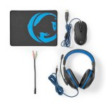 KIT GAMING COMPOSTO DA MOUSE, PAD E CUFFIA CON ADATTATORE