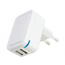 ALIMENTATORE USB IN:110-220V OUT: USB 2xP.3,1A MAX