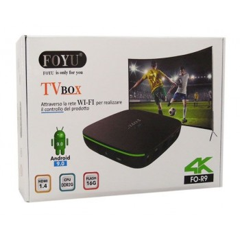 FO-R9 FOYU SMART ANDROID TV BOX HDMI 1.4 DDR 2GB FLASH 16GB