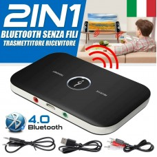 BLUETOOTH RICETRASMETTITORE AUDIO STEREO CON BATTERIA LITIO INCORPORATA