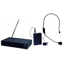 KIT RADIOMICROFONO VHF CON MICROFONO AD IMPUGNATURA