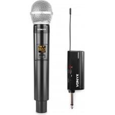 KIT RADIOMICROFONO VHF 2 CANALI CON 2 MICROFONI AD IMPUGNATURA