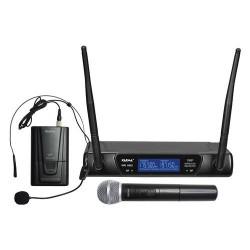 SET6092PL KARMA KIT RADIOMICROFONO VHF 2 CANALI CON 2 MICROFONI LEVALIER/IMPUGNATURA