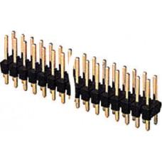 CONNETTORE STRIP LINE MASCHIO DA CIRCUITO STAMPATO PASSO 2,54mm POLI 40+40