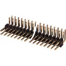 CONNETTORE STRIP LINE MASCHIO DA CIRCUITO STAMPATO PASSO 2,54mm POLI 40+40 AD ANGOLO
