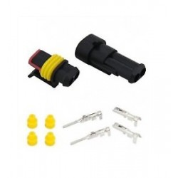 KIT AMP SUPERSEAL MASCHIO-FEMMINA 2 POLI COMPLETO DI PIN