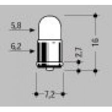 MICROLAMPADA ATTACCO 'T1-3/4' 12V 40mA