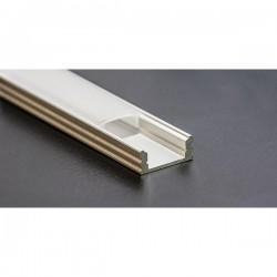 PROFILO PER STRIP LED IN ALLUMINIO DA PARETE 17,5mmx12,2mmx7,0mm BARRA MT.2
