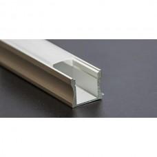 PROFILO PER STRIP LED IN ALLUMINIO DA PARETE 17,5mmx12,2mmx15mm BARRA MT.2