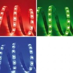 STRIP LED 24V 10W/MT IP20 RGB LED5050 60 LED/MT 120 GRADI BOBINA 5 MT