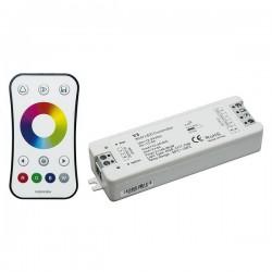 KIT CONTROLLER RGB CON RADIOCOMANDO 1 ZONA RF 2,4GHZ E RICEVITORE 12Vx144W 24Vx288W