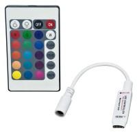 KIT MINI CONTROLLER RGB CON RADIOCOMANDO 433.92MHZ 5-24VDC 6A 2A PER CANALE