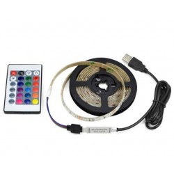 KIT STRIP LED RGB MT.5 IP65 ALIMENTAZIONE USB E TELECOMANDO