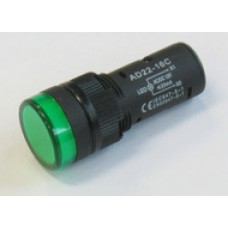 SPIA LED 19.5mm 12V AC/DC VERDE