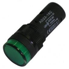 SPIA LED 19.5mm 24V AC/DC VERDE
