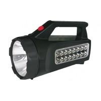 FARO A LED 3W+16 LED RICARICABILE