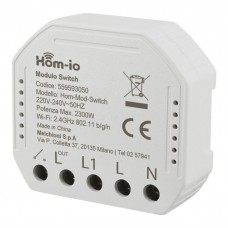HOM-MOD-SWITCH HOM-IO MODULO RICEVITORE ON/OFF WIRELESS 2.4 GHZ 220-240V 50/60HZ 10A 1 CANALE