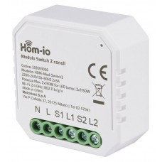 HOM-MOD-SWITCH2 HOM-IO MODULO RICEVITORE ON/OFF WIRELESS 2.4 GHZ 220-240V 50/60HZ 10A 2 CANALI