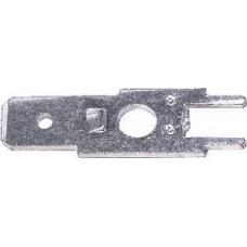 FASTON MASCHIO PASSO 6,35mm DA CIRCUITO STAMPATO CONFEZIONE PZ.50