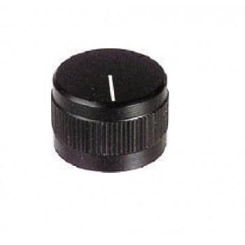 MANOPOLA CON INDICE ASSE 6mm DIAMETRO 19mm NERA
