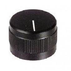 MANOPOLA CON INDICE ASSE 6mm DIAMETRO 28mm NERA