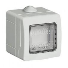 BOX 2 POSTI DA ESTERNO IP55 BIANCO COMPATIBILE MATIX