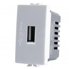 PRESA USB 5V 2A BIANCA COMPATIBILE MATIX