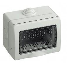 BOX 3 POSTI DA ESTERNO IP55 BIANCO COMPATIBILE LIVING INTERNATIONAL