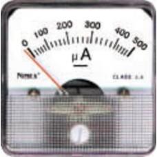 AMPEROMETRO 45x45 100uA CC B.M